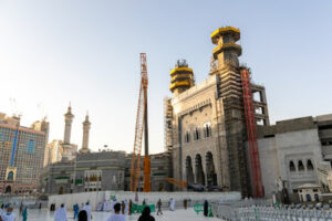 Read more about the article 45% work completed on 6 minarets during Covid Lockdown